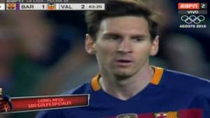 Lionel Messi anotó su gol 500 ante Valencia en Camp Nou [VIDEO]