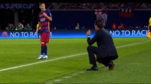 Lionel Messi y sus reclamos a Unai Emery en partido (VIDEO)