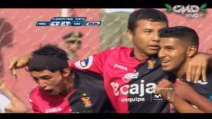 Melgar: Ysrael Zúñiga anotó el 1-1 ante Cristal (VIDEO)