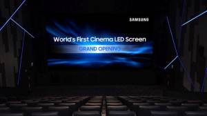 Samsung lanza el Cinema Screen, la primera pantalla LED para cine