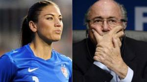 Hope Solo acusa a Joseph Blatter de abuso sexual